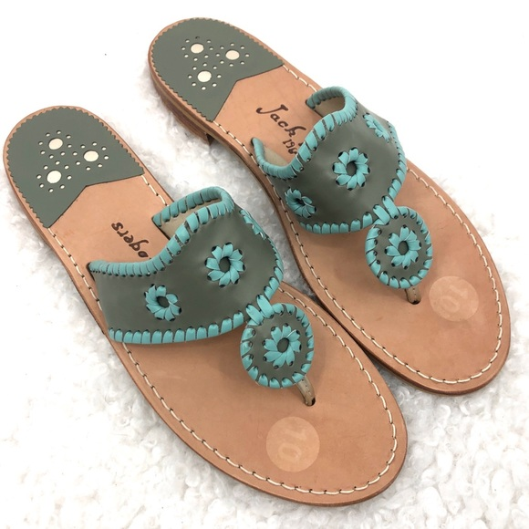 Jack Rogers Custom Hamptons Leather Thong Sandals